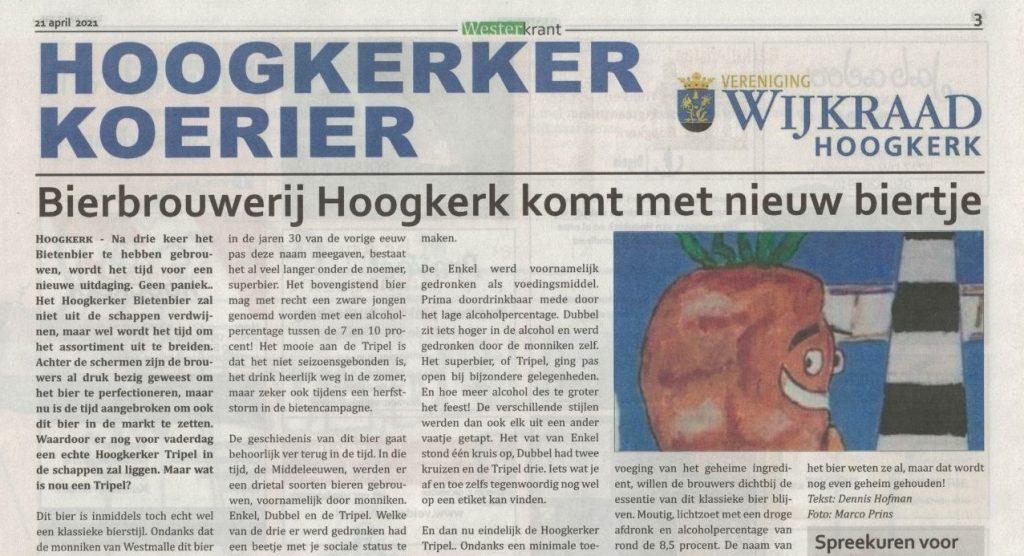 Artikel in de Westerkrant